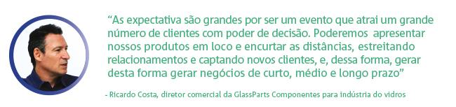 Ricardo Costa, diretor comercial da GlassParts Componentes para indústria do vidros