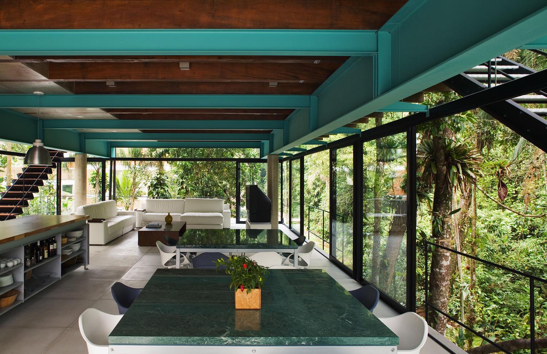 Fachada De Vidro Integra Interior E Exterior Em Constru O