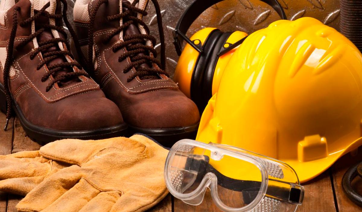 equipamentos de proteção individual para vidraceiros capacete de segurança luvas e botas