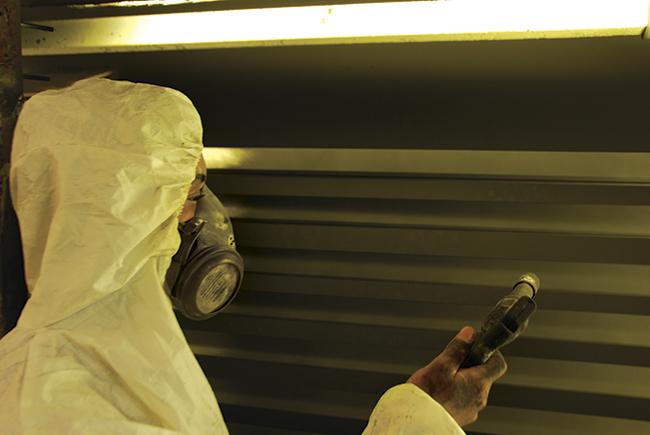 Processo de pintura eletrostática