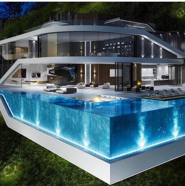 Confira alguns modelos de piscina de vidro revista vidro for Fotos de piscinas cubiertas