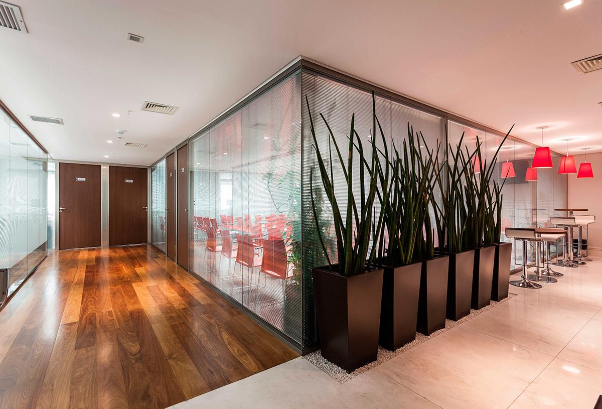 vidro duplo divisória de vidro escritório